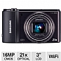 "Samsung WB850 Smart Digital Camera - 16 Megapixels, 1/2.3"" BSI CMOS Sensor, 3"" LCD, 21x Optical, Wi-Fi, GPS, Black (Refurbished)"