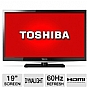 "Toshiba 19L4200 19"" Class LED HDTV - 720p, 60Hz, HDMI, USB, PC Input, DynaLight, Energy Star (Refurbished)"