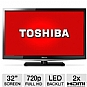 "Toshiba 32L4200 32"" Class LED HDTV - 720p, 60Hz, HDMI, USB, PC Input, DynaLight, Energy Star (Refurbished)"