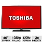 Toshiba 46L5200 46&quot; Class LED HDTV - 1080p, 120Hz, HDMI, USB, PC Input, DynaLight, Energy Star (Refurbished)