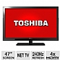 Toshiba 47TL515 47&quot; Class LED 3D HDTV - 1080p, 1920 x 1080, ClearScan 240Hz, HDMI, USB, PC Input, Net TV, WiFi (Refurbished)