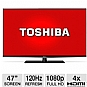 "Toshiba 47L6200U 47"" Class LED 3D HDTV - 1080p, 120Hz, HDMI, USB, PC Input, Wi-Fi, DynaLight, Smart TV, Energy Star"