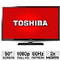 Toshiba 50L2200 50&quot; Class LED HDTV - 1080p, 60Hz, 2x HDMI, PC Input, USB Media, DynaLight, Energy Star (Refurbished)