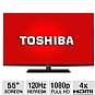 "Toshiba 55L6200 55"" Class LED 3D HDTV - 1080p, 120Hz, HDMI, USB, PC Input, Wi-Fi, DynaLight, Smart TV, Energy Star (Refurbished)"