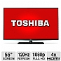 "Toshiba 55L6200 55"" Class LED 3D HDTV - 1080p, 120Hz, HDMI, USB, PC Input, Wi-Fi, DynaLight, Smart TV, Energy Star"