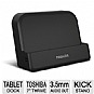 "Toshiba PA3986U-1PRP Tablet Dock - with Audio Out, For 7"" Thrive Tablet Series"