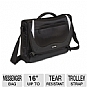 "Ultra Knight Notebook Messenger Bag - Fits Notebook PCs from 15.6"" up to 16"", Essentials Organizer, Double-Padded Computer Pockets, File Compartment"