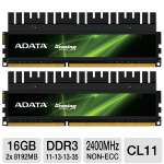 Click to view: ADATA XPG Gaming v2.0 Series AX3U2400GW8G11-DG2 16GB Desktop Memory Module Kit - DDR3, 2 x 8GB, 2400MHz, CL11!