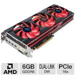 Click to view: Sapphire Radeon HD 7990 Video Card - 6GB GDDR5, PCI-Express 3.0 (x16), 1x Dual-Link DVI-I, 4x DisplayPort, DirectX 11, CrossFireX, Dual-Slot, Triple Fan, (21207-00-50G)!
