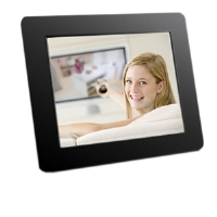 "Click to view: Aluratek ADPF08SF 8"" Digital Photo Frame - Easy operation, SD / SDHC, Rotate Orientation!"