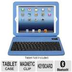 Click to view: Aluratek ABTK02FSB Slim Color Folio Case - Works With iPad 2 and 3rd Generation, Bluetooth Keyboard, Light Weight, Slim, Stand Function, Cable, Blue!