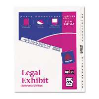 Click to view: Avery-Style Legal Side Tab Divider, Title: A-Z, Letter, White, 1 Set-11374!