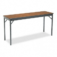 Click to view: Special Size Folding Table, Rectangular, 60w x 18d x 30h, Walnut!