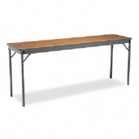 Click to view: Special Size Folding Table, Rectangular, 72w x 18d x 30h, Walnut!