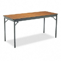 Click to view: Special Size Folding Table, Rectangular, 60w x 24d x 30h, Walnut!