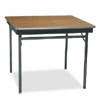 Click to view: Special Size Folding Table, Square, 36w x 36d x 30h, Walnut!