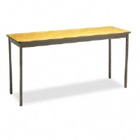 Click to view: Utility Table, Rectangular, 60w x 18d x 30h, Oak!