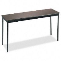 Click to view: Utility Table, Rectangular, 60w x 18d x 30h, Walnut!