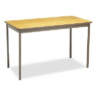 Click to view: Utility Table, Rectangular, 48w x 24d x 30h, Oak!