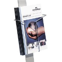 Click to view: Add-On Literature Dispenser, Letter Size, Aluminum Gray!