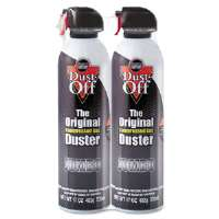 Click to view: Disposable Compressed Gas Duster, 2 17oz Cans/Pack!
