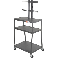 Click to view: Balt 27553 Wide Body Flat Panel TV Cart!
