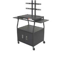 Click to view: Balt 27531 Wide Body Flat Panel Cart with Cabinet!