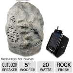 Click to view: C2G Audio Unlimited SPK-ROCK3 Wireless Rock Speaker System - Indoor/Outdoor, 2-Way, 900MHz, Dual Power Transmitter, Granite!
