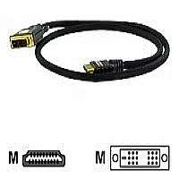 Click to view: Atlona - Video cable - single link - HDMI / DVI - 19 pin HDMI (M) - DVI-D (M) - 3.3 ft - triple shielded - black!