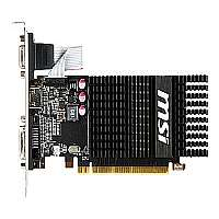 Click to view: MSI R6450-2GD3H/LP - Graphics card - Radeon HD 6450 - 2 GB DDR3 - PCI Express 2.1 x16 low profile - DVI, D-Sub, HDMI - fanless (Refurbished)!