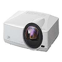 Click to view: Mitsubishi WD385U-EST - DLP projector - 3D - 2800 lumens - 1280 x 800 - widescreen - HD 720p - ultra short-throw lens - LAN with 3 years Mitsubishi Express Replacement Assistance (ERA) Program!