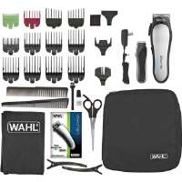 Click to view: Wahl Cordless Lithium Ion Pro Clipper - Rechargable Shaver & Trimmer, 3hrs Full Charge, Cleaning Brush, Blade Oil/Guard, Scissors, Styling Comb, Barber Comb, Cape, 2 Hair Clips, Charger - 79600-2101 !
