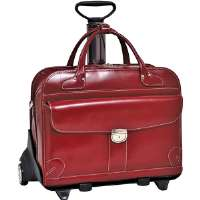 "Click to view: McKlein  15.4"" Lakewood Fly-Through Checkpoint-Friendly 2-in-1 Removable-Wheeled Ladies Laptop Case!"