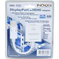 Click to view: NXG Technology  Display Port (Male) to HDMI Adapter (Female)!