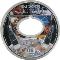 Click to view: NXG Technology  DisplayPort To HDMI Cable Male to Male - 3 Meter!