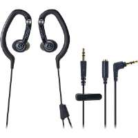 Click to view: Audio-Technica  SonicSport In-Ear Hook Style Waterproof Headphones-Black!