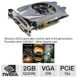 Click to view: Galaxy Geforce GTX 650 Ti BOOST Video Card - 2GB GDDR5, PCI-Express 3.0 (x16), 1x DVI, 1x D-Sub (VGA), 1x HDMI, DirectX 11, SLI Ready, Dual-Slot, Fan, (65NPH7DN7WGT)!