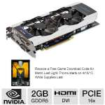 Click to view: Galaxy 67NPH6DV6KXZ GeForce GTX 670 GC 2GB Video Card - 2GB, GDDR5, PCI-Express 3.0 x16, Dual DVI, HDMI, Display Port, DirectX 11, 3-Way SLI, Overclocked!