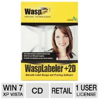 Click to view: Wasp WaspLabeler +2D Barcode Label Design Software - 1 User License!