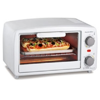 Click to view: Proctor 31116 Silex Extra Large Toaster Oven Broiler - Fits 4 Slices or 2 Pizzas, White!