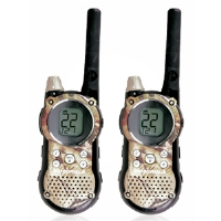 Click to view: Motorola Talkabout T9650RCAMO 2-Way Radio - Rechargeable, 18-Mile Range, 22 Channels, 11 Weather Channels!
