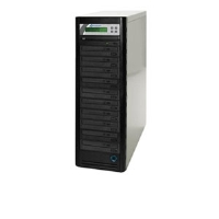 Click to view: Microboards QD-DVD-H1210 QD 1:10 CD/DVD Duplicator - 250GB HDD, 22x DVD, 48x CD, USB 2.0!