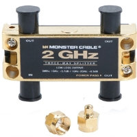 Click to view: Monster TGHZ-3RF Low-Loss RF Splitters - 2 GHz, 3-Way!