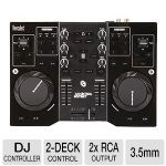 Click to view: Hercules DJ Control Instinct Mixer - 2 Deck, 2x RCA Output, 3.5mm Stereo Output, USB Port (4780730)!