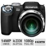 Click to view: Olympus SP-720UZ iHS Digital Camera - 14 Megapixels, CMOS Sensor, 3