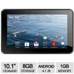 "Click to view: Proscan 10.1"" Tablet - Android 4.1 Jelly Bean, 1.5GHz, 1GB DDR3, 8GB Storage, 10.1"" Capacitive Multi Touch Display, 2MP Rear/0.3MP Front Cameras, WiFi - PLT1066G!"