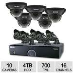 Click to view: Revo 16CH 4TB 960H DVR Surveillance System - 10x 700TVL, 100 ft. Night Vision Cameras - R165D5GB5G-4T!