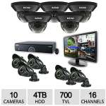 "Click to view: Revo 16CH 10CAM 4TB 960H DVR Surveillance System - 10x 700TVL, 100 ft. Night Vision Cameras, 21.5"" Monitor - R165D5GB5GM21-4T!"