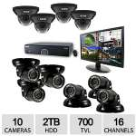 "Click to view: Revo 16CH 10CAM 2TB 960H DVR Surveillance System - 10x 700TVL, 100ft. Night Vision Cameras, 21.5"" Monitor - R165D4GT6GM21-2T!"