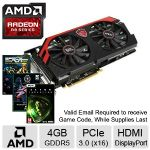 Click to view: MSI Radeon R9 290 Video Card - 4GB GDDR5, PCI-Express 3.0 (x16), Overclocked - R9 290 GAMING 4G - (3 FREE Games up to $160 value after purchase, limited offer)!